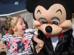 Lillian from Clonlara meets Mickey Mouse!