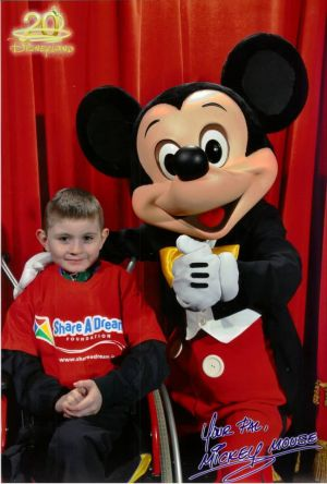 Stephen meets Mickey Mouse!